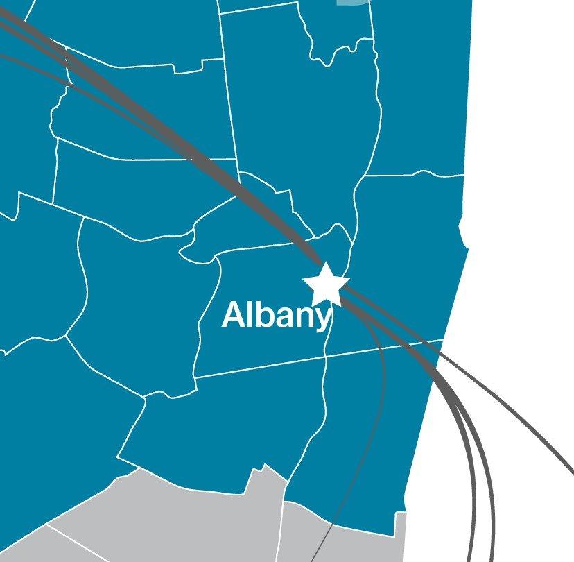 Hixny map focused on Albany NY
